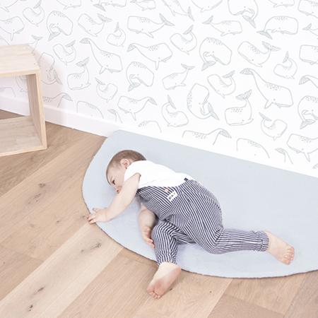 Slika za Lilipinso® Dječji tepih Half moon Blue 140x70