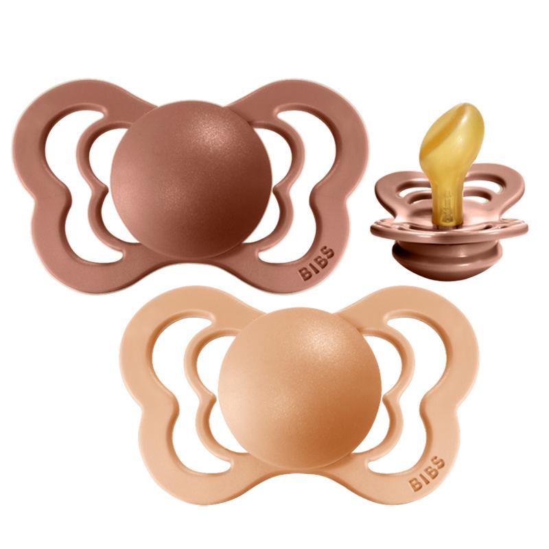 Slika za Bibs® Duda Couture Lateks Peach & Woodchuck 2 (6-18m)