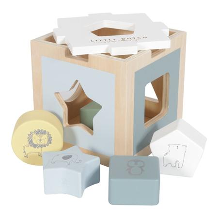 Slika za Little Dutch® Didaktična kocka za razvrstavanje oblika Zoo Blue