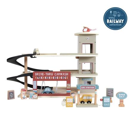Slika za Little Dutch® Drvena garaža za željezničku prugu