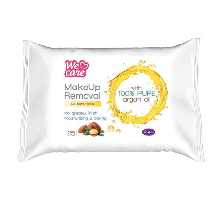 Slika za Violeta® Vlažilne maramice za uklanjanje šminke sa Arganovovim uljem 25/1