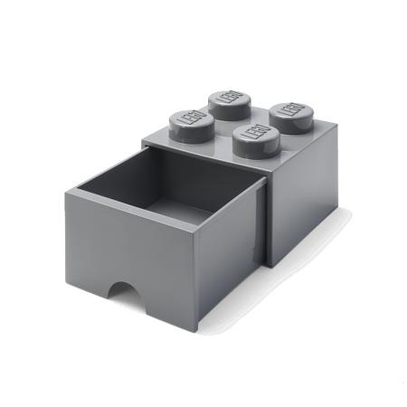 Slika za Lego® Kutija za pohranjivanje s ladicama 4 Dark Grey
