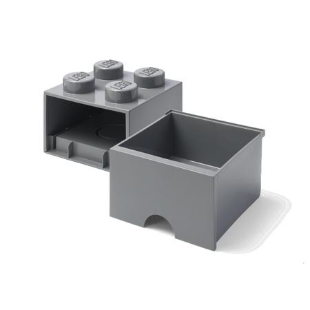 Lego® Kutija za pohranjivanje s ladicama 4 Dark Grey