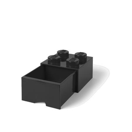 Slika za Lego® Kutija za pohranjivanje s ladicama 4 Black