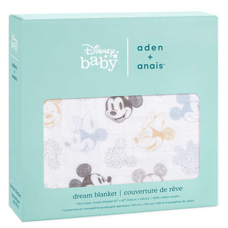 Slika za Aden+Anais® Pamučna dekica Disney Mickey + Minnie 120x120