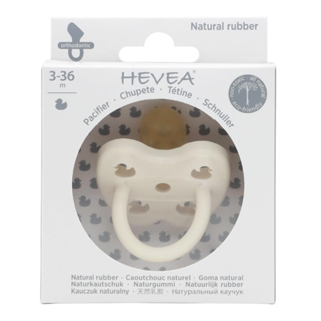 Slika za Hevea® Ortodontska duda od kaučuka Colourful (3-36m) Snow White