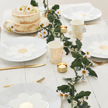 Slika za Ginger Ray® Stolne dekorative ruže Daisy Foliage Garland