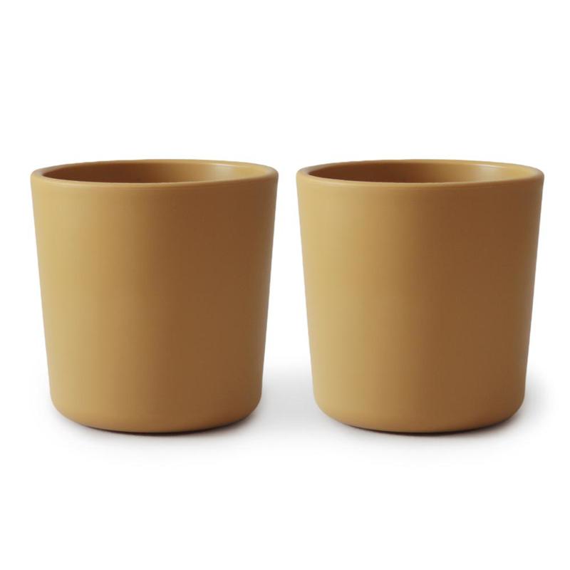 Slika za Mushie® Set dvi šalice Mustard