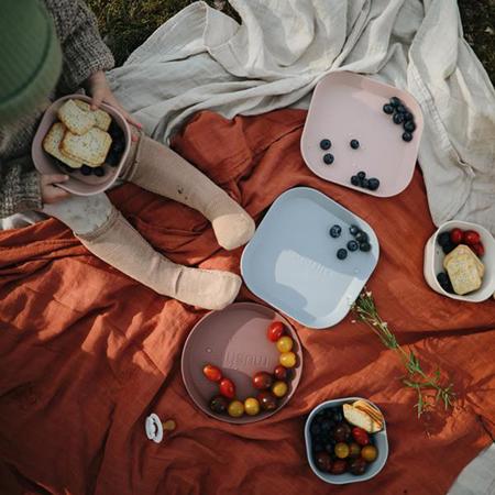 Slika za Mushie® Set dva tanjurića Woodchuck