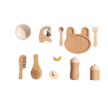 Petit Monkey® Drveni set Baby Feeding