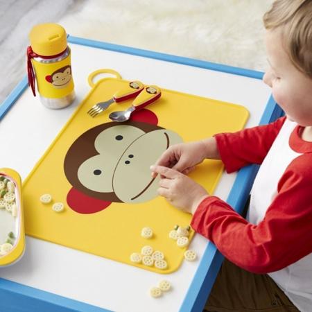 Slika za Skip Hop® Steklenička iz nerjavečega jekla s slamico Opica