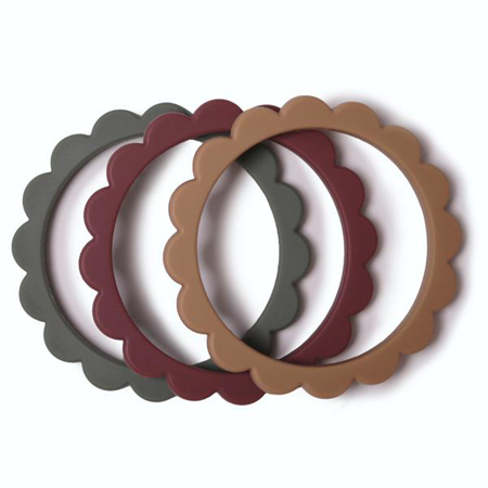 Slika za Mushie® Grizalo obrući Berry/Dried Thyme/Natural 3 komada