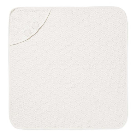 CamCam® Ručnik s kapuljačom i ušima GOTS Off White 80x80