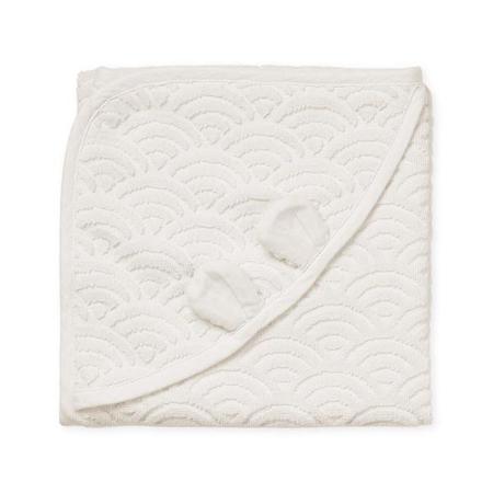 Slika za CamCam® Ručnik s kapuljačom i ušima GOTS Off White 80x80