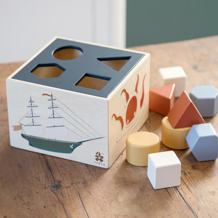 Sebra® Drvena kocka s različitim oblicima seven Seas