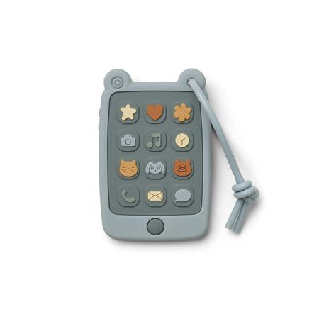 Slika za Liewood® Didaktička igračka od silikona Telefon Thomas Sea Blue