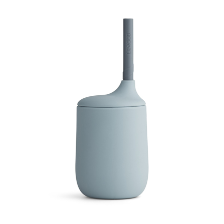 Slika za Liewood® Silikonska čašica sa slamkom Ellis Sea Blue/Blue Wave Mix