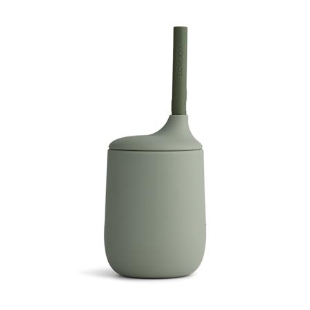 Slika za Liewood® Silikonska čašica sa slamkom Ellis Faune Green/Hunter Green Mix