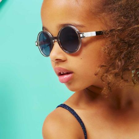 KiETLA® Dječje naočale za sunce Antik Pink Stripe 6-9G