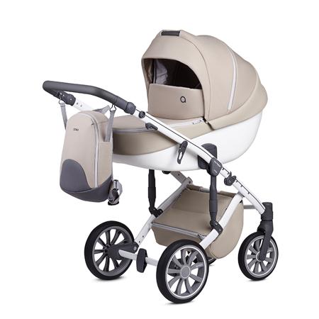 Slika za Anex® Dječja kolica s košarom i ruksakom 2u1 M/Type (0-22kg) Milk