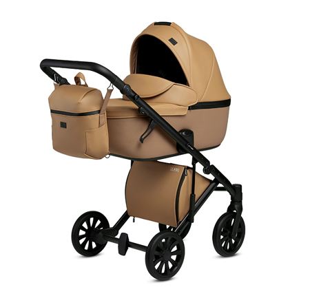Slika za Anex® Dječja kolica s košarom i ruksakom 2u1 E/Type (0-22kg) Caramel