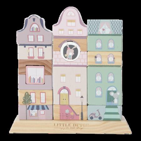 Slika za  Little Dutch® Drvene kocke za gradnju Pink