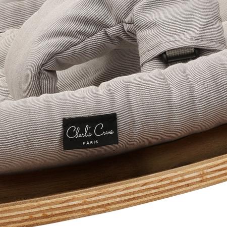 Slika za : Charlie Crane® Ležaljka i gegaljka za mališane LEVO Walnut Sweet Grey