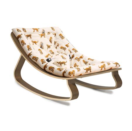 Slika za : Charlie Crane® Ležaljka i gegaljka za mališane LEVO Walnut Jaguar