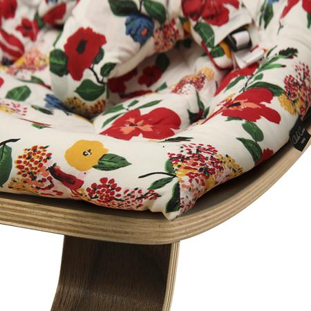 Slika za : Charlie Crane® Ležaljka i gegaljka za mališane LEVO  Walnut Hibiscus