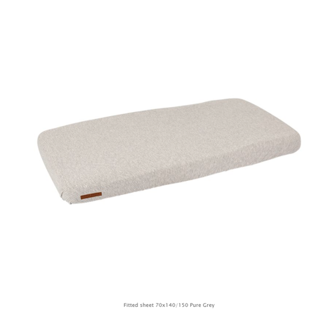 Slika za Little Dutch®  Dječja elastična plahta  Pure Grey 70x140/150