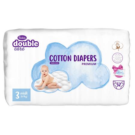 Slika za Violeta® Double Care Cotton Touch 3 Midi (4-9 kg) 52 komada