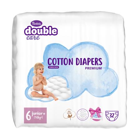 Slika za Violeta® Double Care Cotton Touch Junior+ (16+ kg) 32 komada + Poklon lažne maramice Water Care