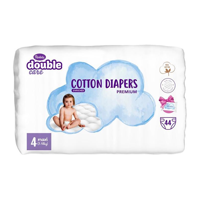 Slika za Violeta® Double Care Cotton Touch Maxi (7-18 kg) 44 komada +Poklon vlažne maramice Water Care
