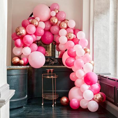 Slika za Ginger Ray® Luk od balona Luxe Pink & Rose Gold