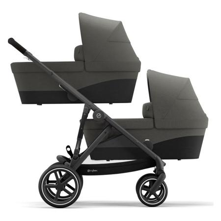 Cybex® Dječja kolica za blizance Gazelle S BLK (2x sjedišta i 2x košara) Soho Grey