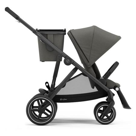 Slika za Cybex® Dječja kolica za blizance Gazelle S BLK (2x sjedišta i 2x košara) Soho Grey