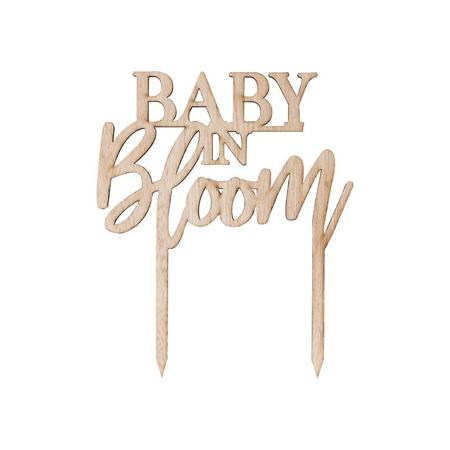 Slika za Ginger Ray® Drveni ukrasni natpis za tortu Baby in Bloom