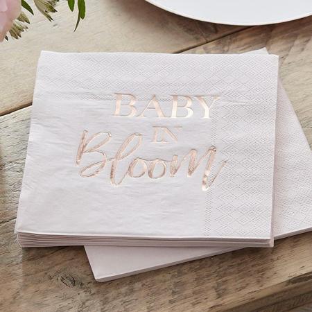 Slika za Ginger Ray® Salvete Baby in Bloom 16 kosov