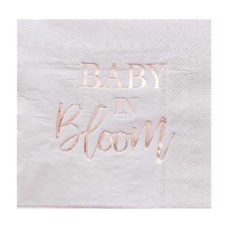 Ginger Ray® Salvete Baby in Bloom 16 kosov