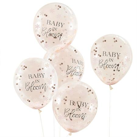 Ginger Ray® Baloni s konfetima Baby in Bloom 5 komada