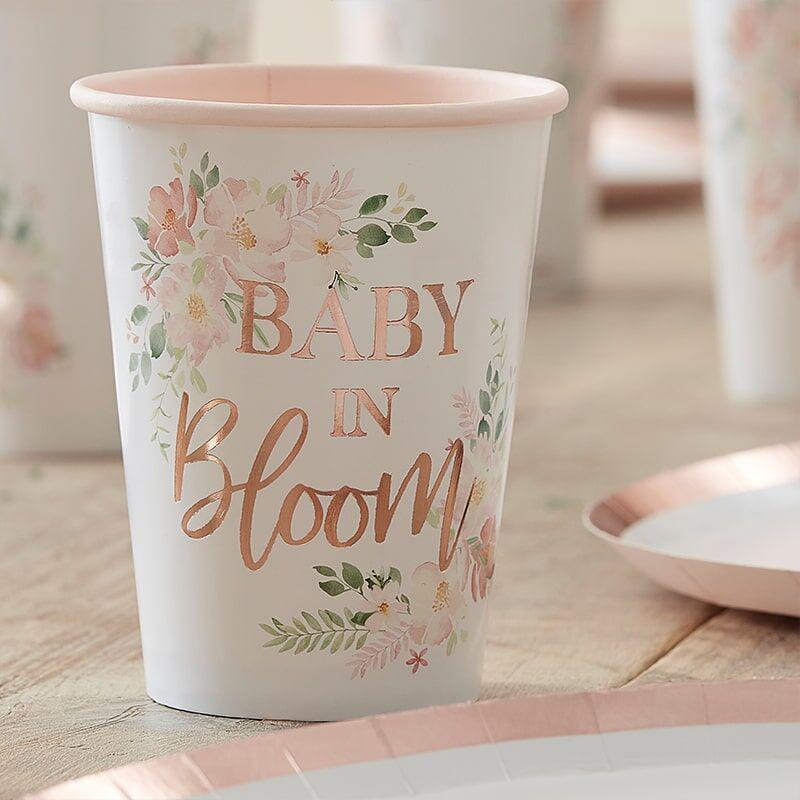 Slika za Ginger Ray® Papirne čašice Baby i Bloom 8 komada