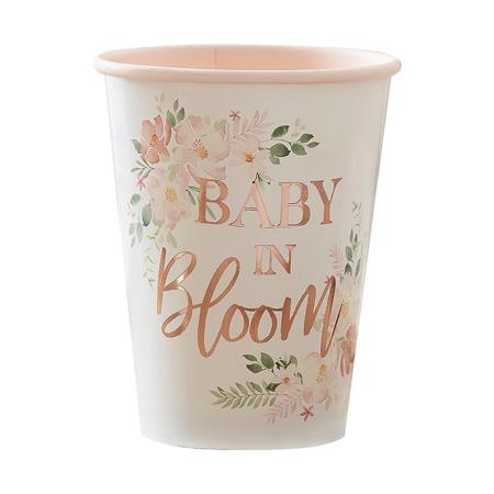 Ginger Ray® Papirne čašice Baby i Bloom 8 komada