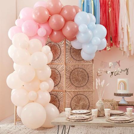 Slika za Ginger Ray® Luk od balona Muted Pastel Rainbow