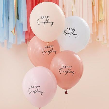 Slika za Ginger Ray® Baloni Muted Pastel Happy Everything 5 komada