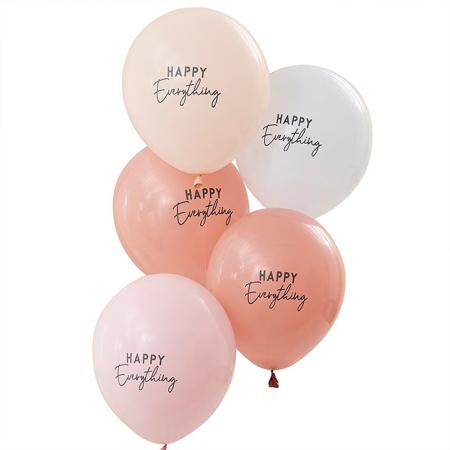 Ginger Ray® Baloni Muted Pastel Happy Everything 5 komada