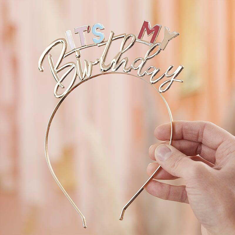 Slika za Ginger Ray® Obruč za glavu s natpisom It's My Birthday