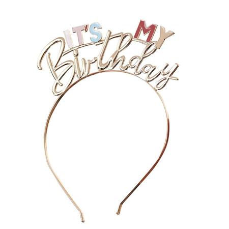 Ginger Ray® Obruč za glavu s natpisom It's My Birthday