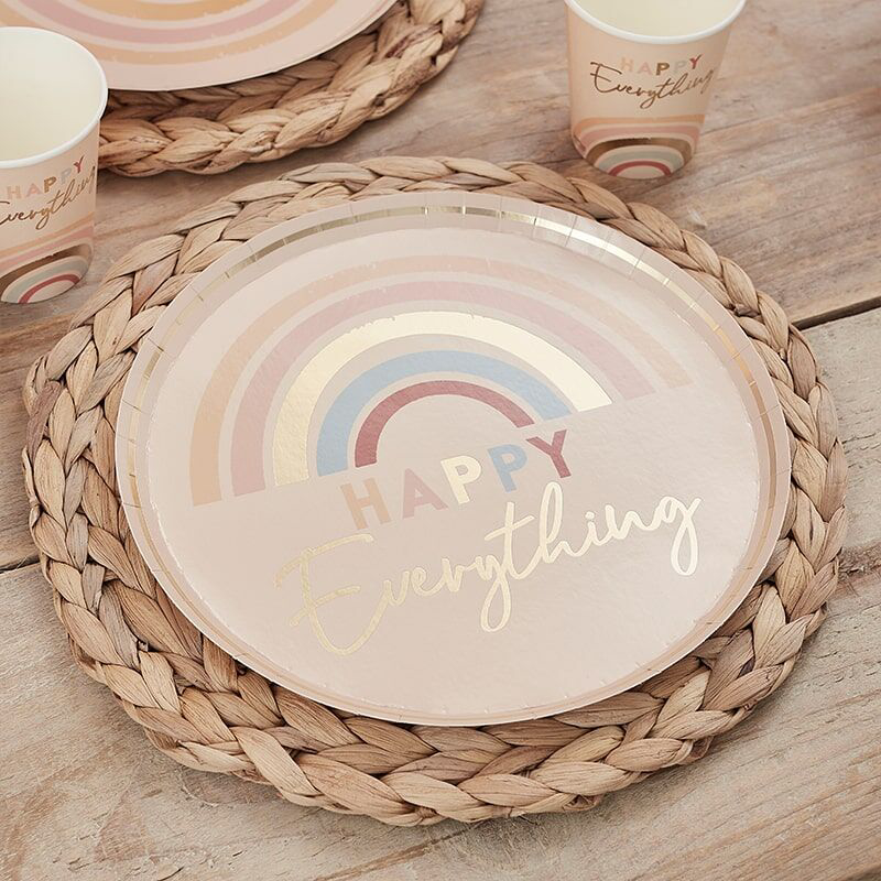 Slika za  Ginger Ray®  Papirni tanjurići Happy Everything 8 komada