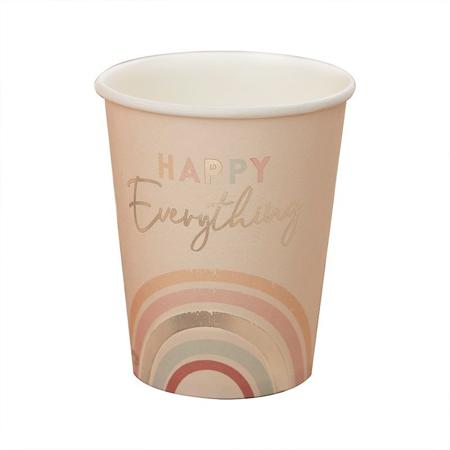 Ginger Ray® Papirne čašice Happy Everything 8 komada