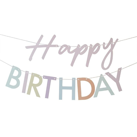 Ginger Ray® Viseći natpis Mix It Up Happy Birthday Pastel